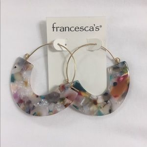 Francesca's Collections Jewelry - Large Statement multi color Earrings Francesca's